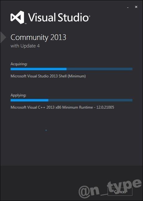 Visual Studio Community 2013 Install