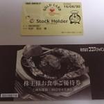 ココスジャパン(9943)から株主優待が届きました(有効期限2015/06/30)