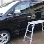 アルミ洗車台でVOXYを洗車!天井が脚立より洗いやすいく安全です