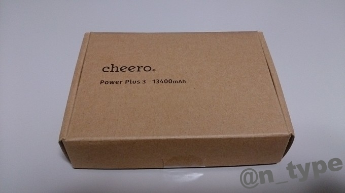 cheero Power Plus 3 箱