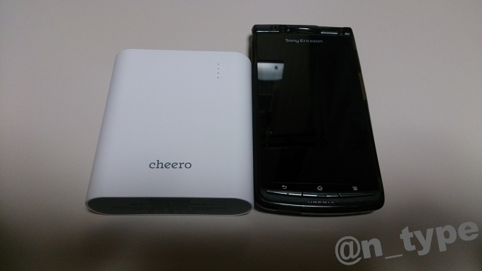 cheero Power Plus 3 と acro