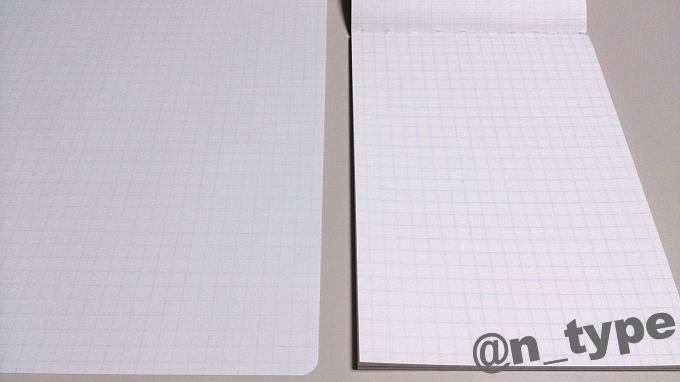Thinking Power Notebook フューチャー 5mm 方眼 ライン 濃さ