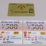 ココスジャパン(9943)から株主優待が届きました(有効期限2016/12/31)