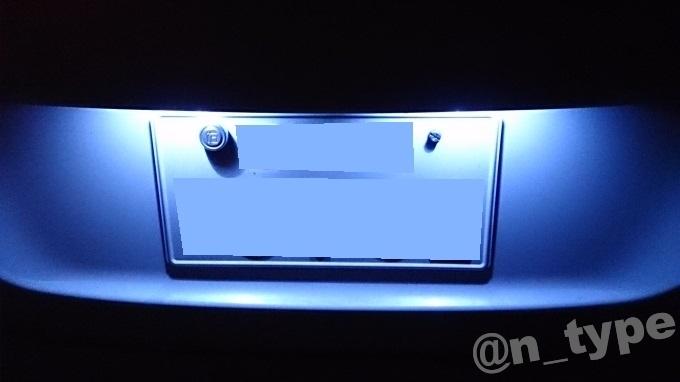 スイフトRS ナンバー灯 LED化