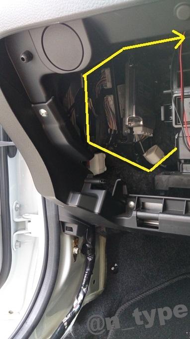 スイフト 電源引き込み 車内 配線