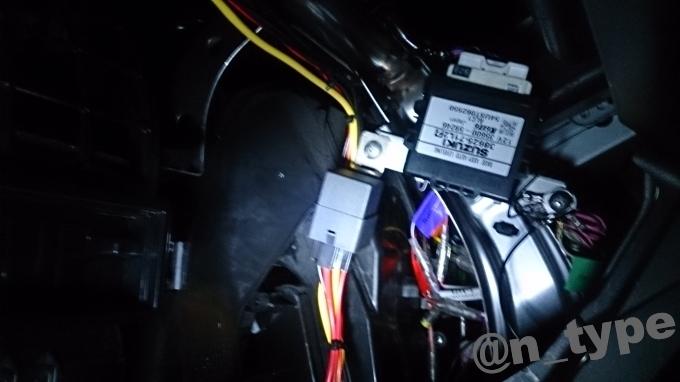 スイフト 電源引き込み 車内 リレー設置場所