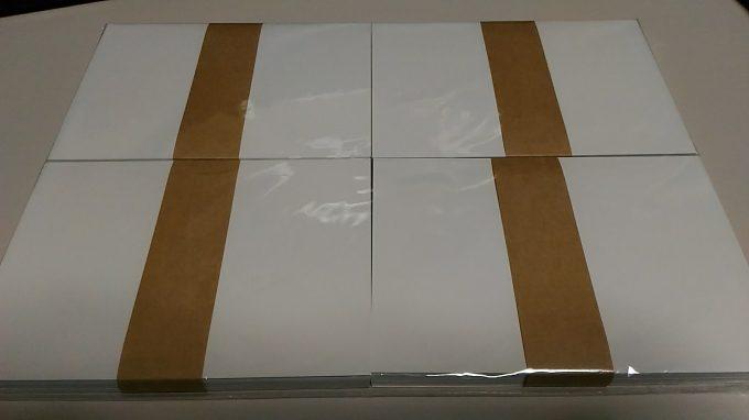 伝票印刷製本のコンビニ 有限会社 中野製本 A6サイズ 厚め 200枚