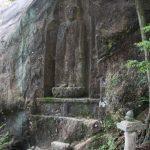 明郵便局の風景印に描かれている磨崖仏(阿弥陀如来立像)を見てきた