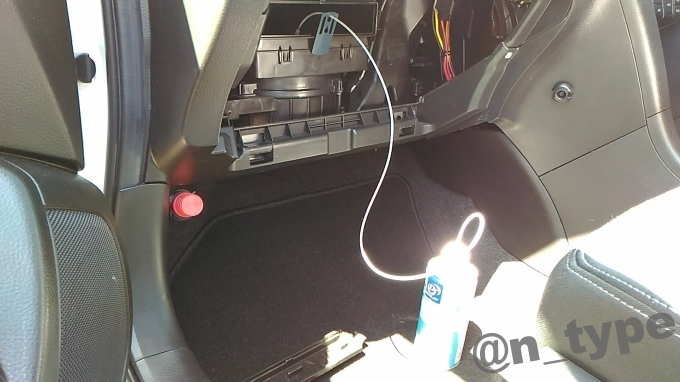 スイフトRS DRIVE JOY クイックエバポレータークリーナーS  施工中