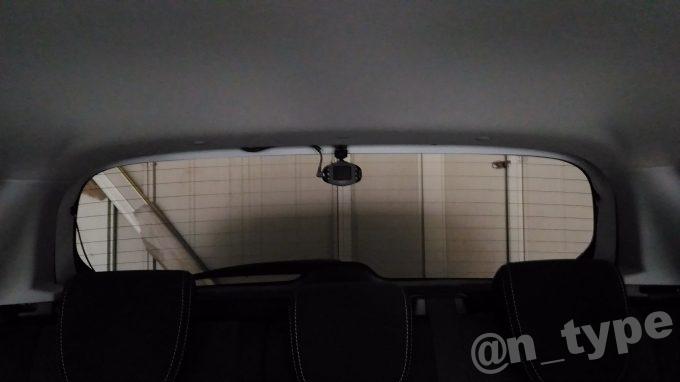 スイフトRS 車内から見たリア用ドラレコ