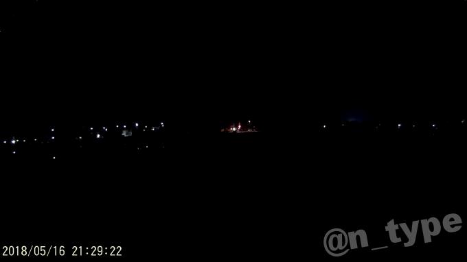 APEMAN C470 夜間 街灯のない道