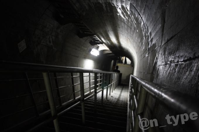 小渋ダム開放DAY 階段