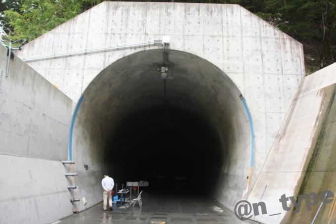 小渋ダム開放DAY 土砂バイパストンネル吐口