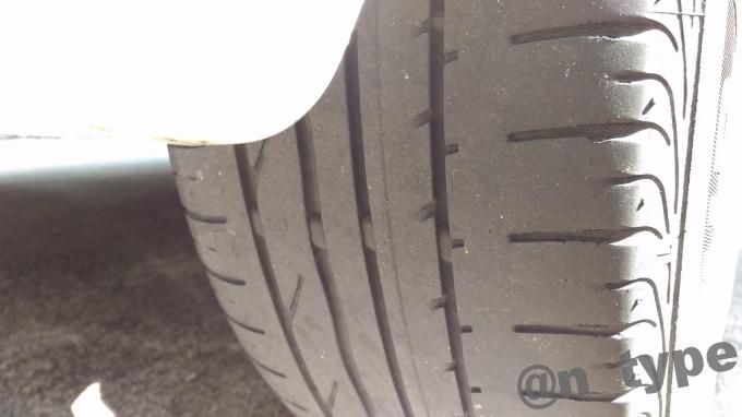 スイフトRS 純正タイヤ トランザ 残り溝 リア