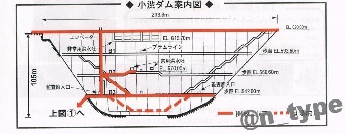 小渋ダム開放DAY 案内図