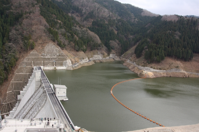 河内川ダム 展望台からの眺め