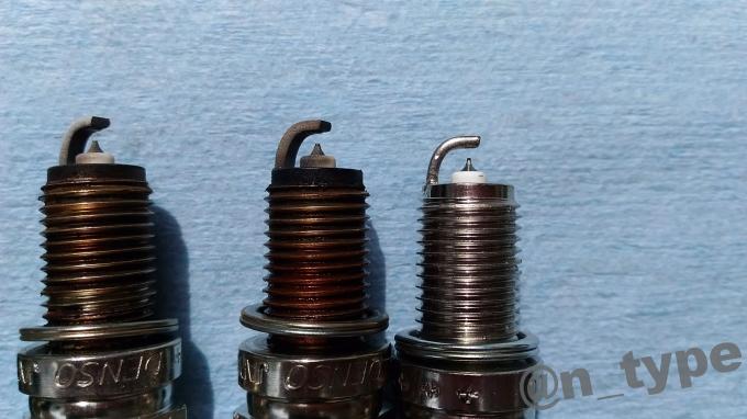 スイフトRS エンジンプラグ交換 新旧比較