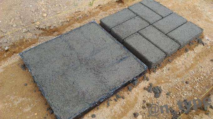 コンクリート金型(セメントレンガ金型)  使用例