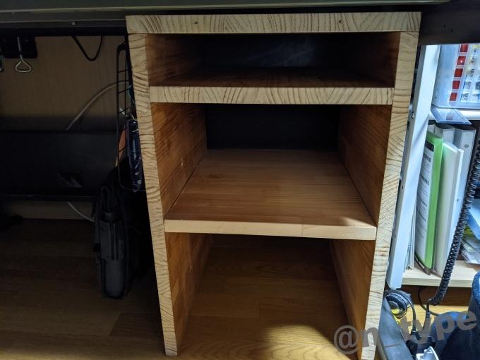 廃材で作った棚